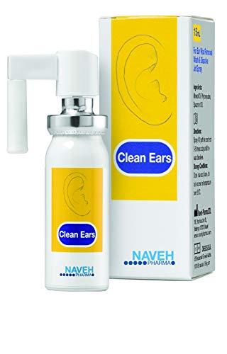 Naveh Clean Ears 15ml Ohrenschmalz Entfernung Spray, Saubere Ohren, Ohrenreiniger, Ohrenschmalz Entfernung, ohne Konservierungsstoffe, Ohrenreinigung