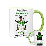 Riesen Auswahl Tasse Spruch Motive Fun Premium Geschenk Keramik, Original Sunnywall  Geschenkidee (26 Pinguin niedlich)