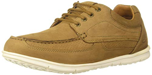 Woodland Men's Camel Leather Sneakers-6 UK/India (40 EU) (GC 2567117)