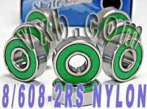 8 Skateboard Bearing Nylon Cage Sealed Ball Bearings VXB Brand