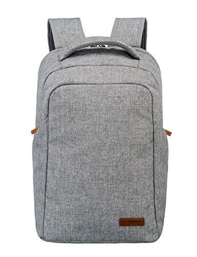 travelite Handgepäck Rucksack mit Laptop Fach 15,6 Zoll, Gepäck Serie BASICS Safety Daypack: Sicherer Rucksack mit verstecktem Hauptfach, 096311-04, 46 cm, 23 Liter, hellgrau