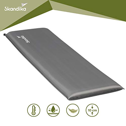 skandika Easy Single/Double 3D Premium selbstaufblasende Isomatte Luftmatratze selbstfüllend, ideal für Zelten, Outdoor, Camping, Gästebett (Easy Single)