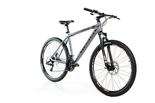 """Moma bikes, Bicicletta Mountainbike 27,5"""" MTB SHIMANO, alluminio, doppio disco e doppia sospensione"""