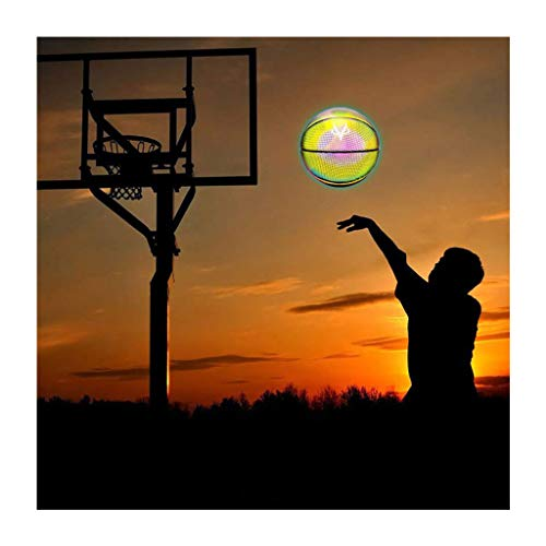 Affordable Beautly Holographic Glowing Reflective Basketball Set, Light Up Camera Flash Glow in The ...