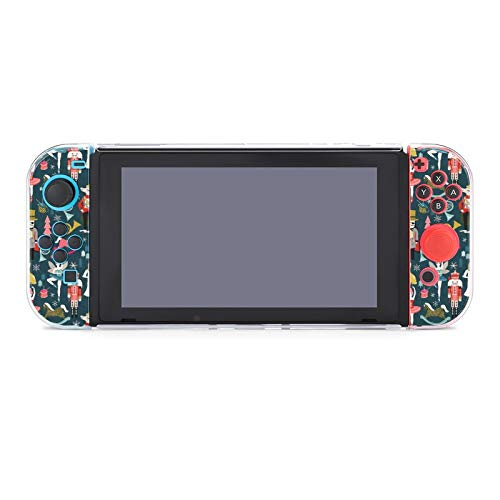 Anti-Scratch PC Schutzhülle für Nintendo Switch kompatibel mit Switch und Joy-Con Controllern Split 5-teilig Soft Game Console Case - Nussknacker Ballet Xmas Dance