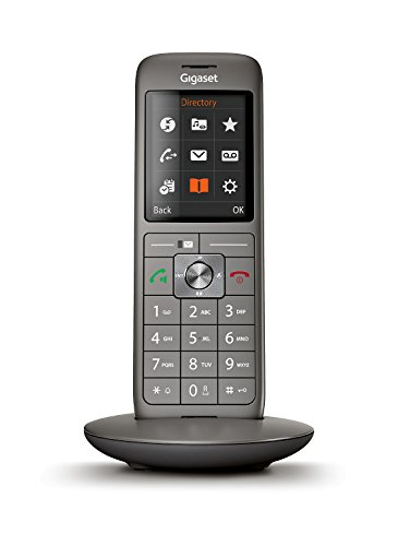 Gigaset CL660HX Analog DECT Telephone Identificador de Llamadas Antracita - Teléfono (Analog DECT Telephone, Terminal inalámbrico, Altavoz, 400 entradas, Identificador de Llamadas, Sin contestador)