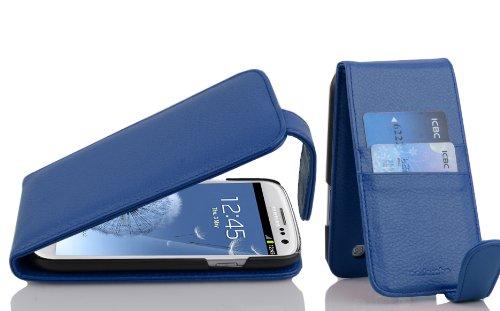 Cadorabo Funda para Samsung Galaxy S3 / S3 Neo in Azul ATLÁNTICO - Cubierta Proteccíon Estilo Flip con Tarjetero - Etui Case Cover Carcasa: Amazon.es: Electrónica