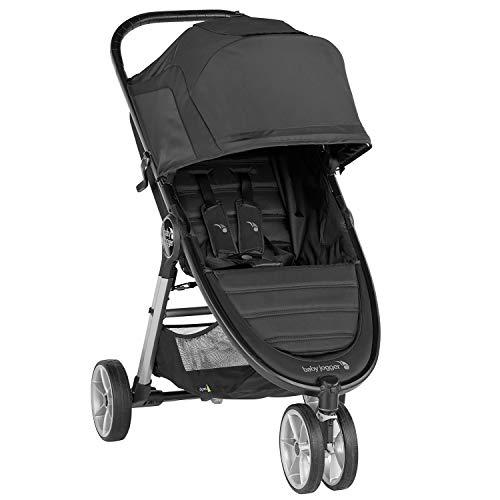 Baby Jogger 2083060 City Mini 2 - Silla de paseo ligera, 3 ruedas, mecanismo de plegado rápido con una sola mano negro Negro Jet