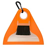 UST FlexWare Compact Sweep Set with Brush, Dust Pan and Carabiner for Cleaning Small Messes at the Campsite, Picnic or Other Outdoor Activities , Orange