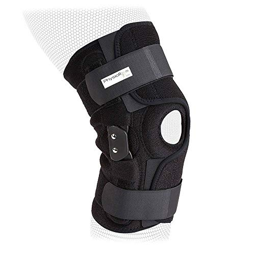 PhysioRoom Hinged Knee Brace Knee Ligament ACL Support Elite Pro Large