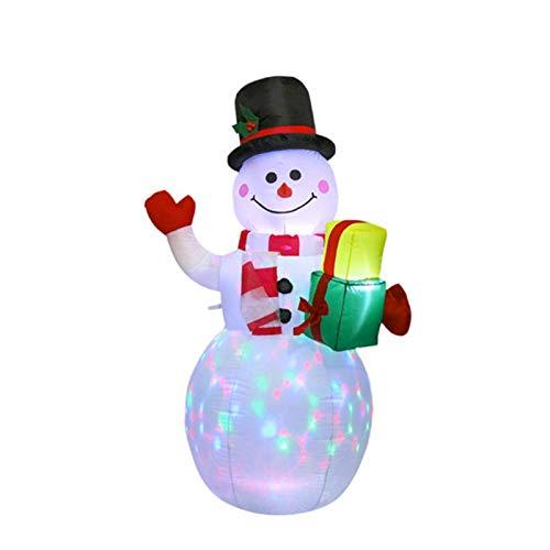 Zhangjie Pupazzo di Neve Gonfiabile Natalizio , Decorazione Luminosa Babbo Natale , Simpatica Decorazione Luminosa Set di Bambole Babbo Natale , Luci a LED Decorazioni Natalizie per Interni o Esterni