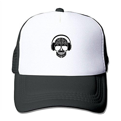 LRIEWH Skull Wear Headphone Baseball Cap Outdoor Sports Mesh Hat For Teenager Girl Boy
