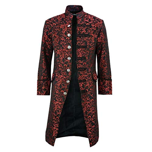 Lowest Prices! Muranba Mens Winter Coats Button Fashion Steampunk Vintage Tailcoat Jacket Gothic Fro...