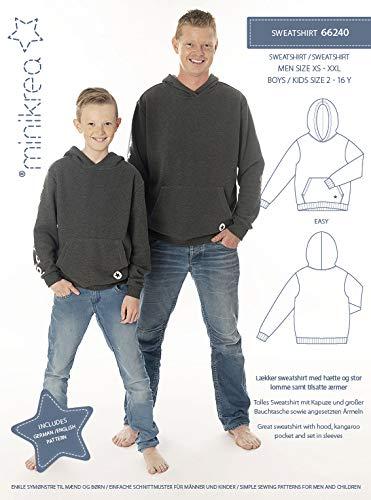 MAGAM-Stoffe Sweatshirt Schnittmuster Kinder Jungen Männer inkl. Aufnäher Enno