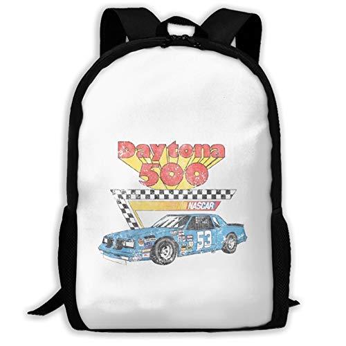 Nascar Vintage Daytona 500 Adult Full-Width Printed Backpack Travel Daypack School Bag Laptop Backpack School Backpack