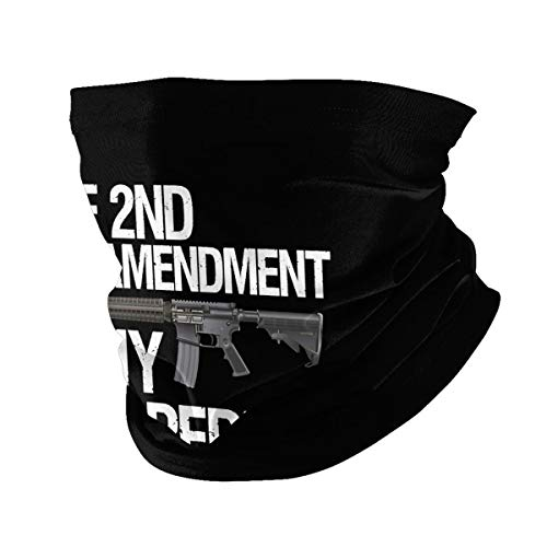 The 2nd Amendment is My Gun Permit Gun Face Mask, Bandana Neck Gaiter Balaclava Summer Cooling Breathable for Cycling Fishing Outdoors Black