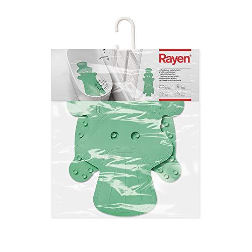 Rayen baño Infantil | Máxima Caucho Natural | Alfombra Antideslizante | Seguro para niños | con ventosas de Alta Resistencia, Verde, Medidas: 86 x 33 cm