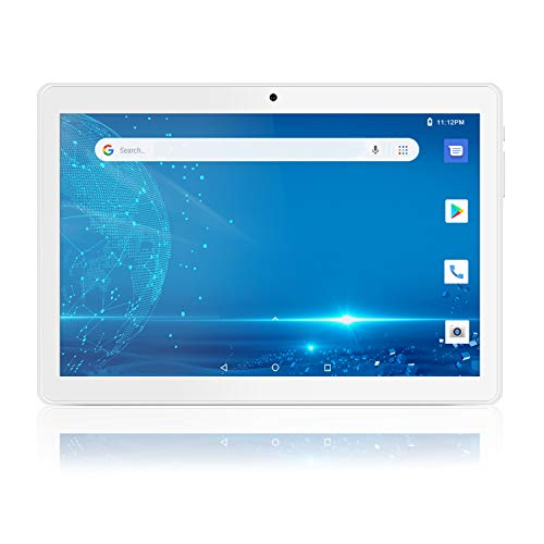 Android Tablet 10 Inch, 5G WiFi Tablet with Dual Camera, 16GB Storage, Android 8.1 Tablets PC, Quad-Core Processor, Google Certified, 1280x800 IPS HD Display, Bluetooth, GPS, FM - Silver