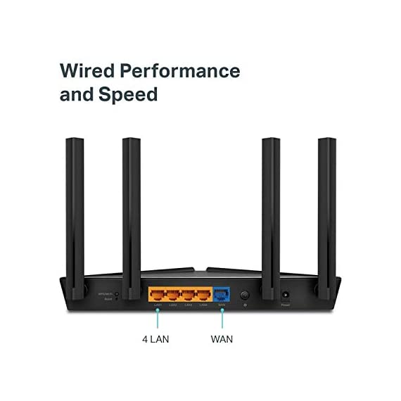 TP-Link WiFi 6 Router – 802.11ax Router, Gigabit Router, Dual Band, OFDMA, Parental Controls, Long Range Coverage… 7 JD Power Award ---Highest in customer satisfaction for wireless routers 2017 and 2019 Wi-Fi 6 Router: Archer AX10 comes equipped with latest wireless technology WiFi6 featuring OFDMA 1024-QAM, drastically increasing the speed and efficiency of the entire network. Next-gen Dual Band router – 300 Mbps on 2. 4 GHz (802. 11n) + 1201 Mbps on 5 GHz (802. 11ax)