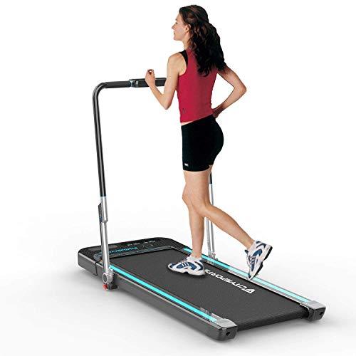 CITYSPORTS Treadmill Elettrico Tapis roulant, Tapis roulant Fitness, Macchina da Passeggio da Jogging con Monitor LCD, Tapis roulant Portatile per Uso casa/Ufficio