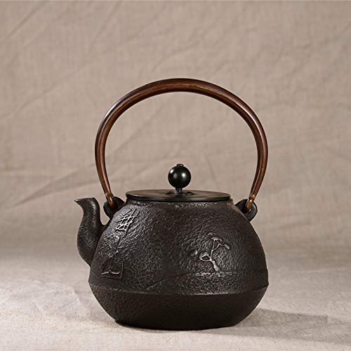 For Sale! ZYL-YL Cast Iron Kung Fu Tea Set_1.2 L Lost Wax Method Uncoated Kung Fu Tea Set