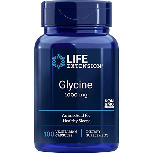 Life Extension, Glycin, 1.000 mg, 100 vegane Kapseln, sojafrei, glutenfrei