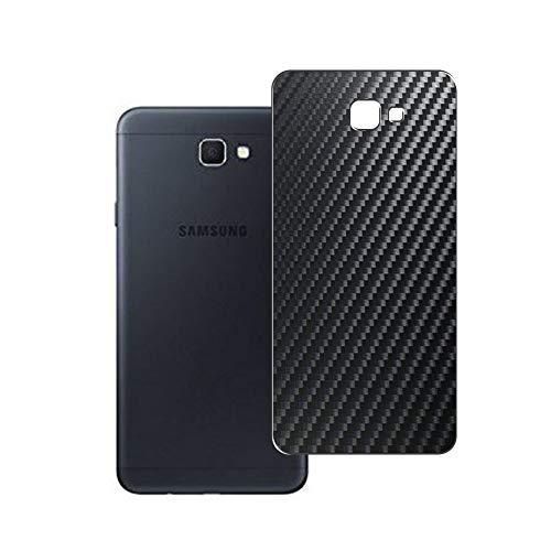 Vaxson 2 Unidades Protector de pantalla Posterior, compatible con Samsung Galaxy On7 2016 G6100 J7 Prime, Película Protectora Espalda Skin Cover - Fibra de Carbono Negro