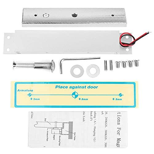 Cerradura magnética eléctrica de una sola puerta 280 kg Kit de cerradura electromagnética integrada de fuerza fija para herramientas de hardware para seguridad del hogar DC 12V
