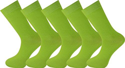 Mysocks unisex 5 Paar Packsocken Lindgrün