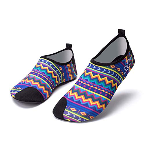 GGPUS Outdoor sport strandschoenen, hoge elastische stof duiken schoenen, anti-slip loopband schoenen, magere schoenen zwemschoenen,Blauw, 40/41