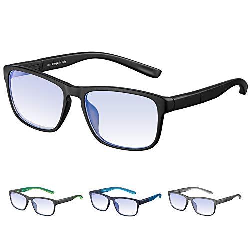 Rezi Gafas de ordenador Gafas Lectura para Protección contr
