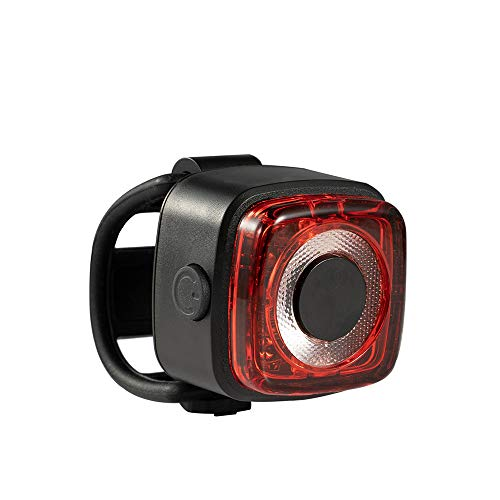 LED Fahrrad Rücklicht | Cree LED Fahrradlicht | USB aufladbare Rückleuchte | Deutsches StVZO-Zertifikat | IPX-5 wasserdicht Fahrradbeleuchtung | Fahrradlampe für Radsport | Quadrato 35 + Ø, 40 g