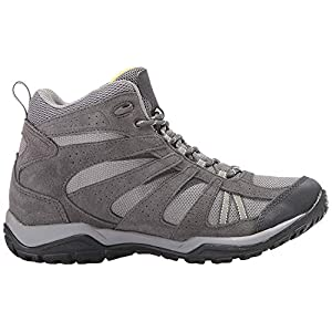 Columbia Women's Dakota Drifter MID Waterproof Hiking Boot, Light Grey, Sunnyside, 7.5 B US