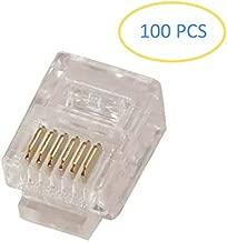 Corpco 100PACK Telephone Plug 6P6C RJ12 Modular Plug Crimp On Connector