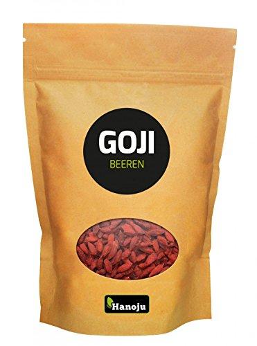 Bacche di Goji | Pure e Naturali al 100% | Alta Qualità | Sacchetto da 1000g | HANOJU®