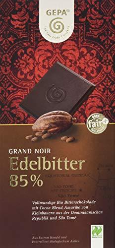 GEPA Bio Grand Noir Edelbitter, 85% Cacao,10er Pack