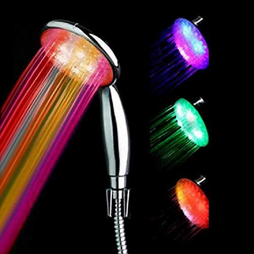 LANZHEN-RY Control de la Temperatura del LED de Ducha, Ducha de alternancia de Colores de luz, Tres Colores