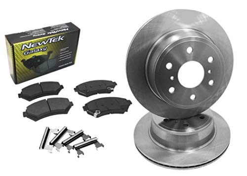 DK1013-1 Front Brake Rotors and Ceramic Pads and Hardware Set Kit