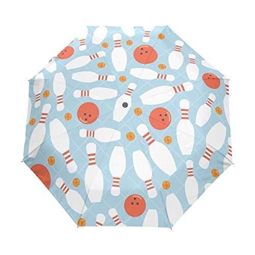 Bolos Bolos Naranja Dot Paraguas Plegables niña niño Automático Resistencia Viento Paraguas Impermeable de Viaje