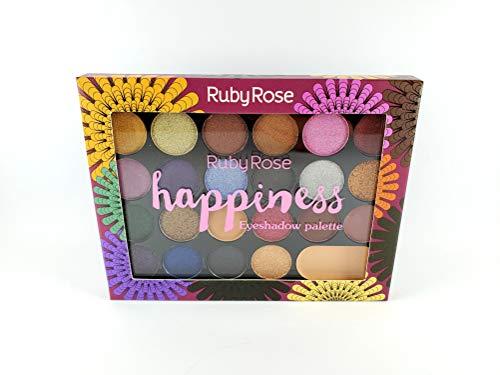 PALETA DE SOMBRAS HAPPINESS 22 CORES + 1 PRIMER RUBY ROSE HB-1003