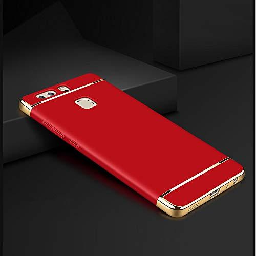 Momoxi Phone Accessory Huawei Handyhülle Handy-Zubehör Ultra Thin Hard Case Matt Goldener Rand Full Protector Cover for Huawei P9 lite hülle