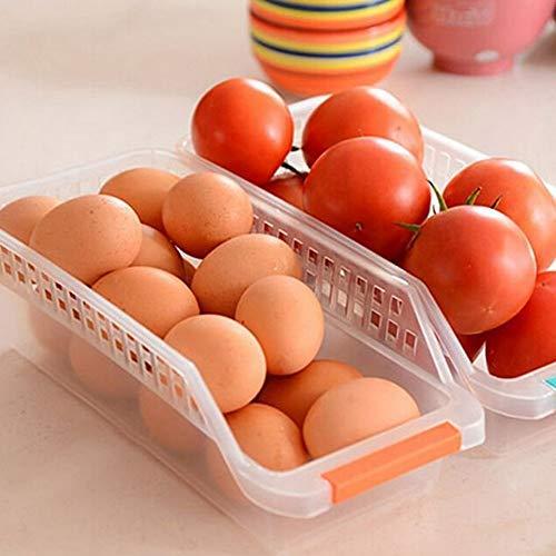 Fridge Storage Basket Shelf Organiser Rack Space Saver Food Storage Refrigerator Drawer Seat of- 1