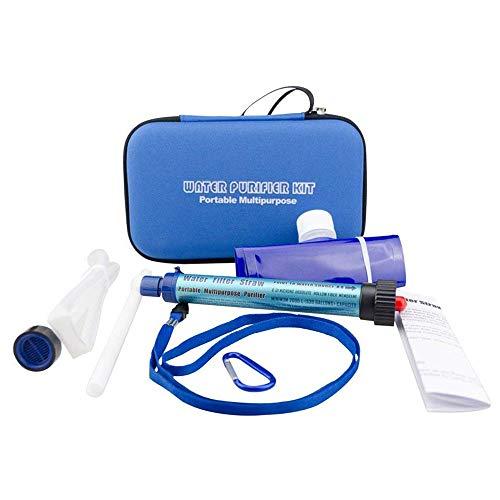 CHEYAL Mini-Wasser Filtrations System, Tragbarer Wasserfilter Persönlicher Wasserfilter Für Wandern, Camping, Reisen, Rucksack Outdoor-Sport und Notfallvorsorge, Entfernt Bakterien und Protozoen.