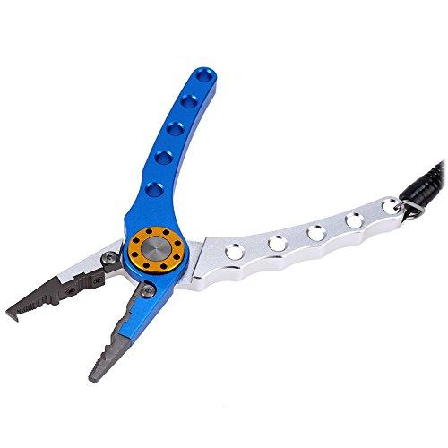 Portable Aluminium Pêche Pince ciseaux multifonction Braid Ligne Cutter Crochet Remover Attaquer Outil avec étui pour extérieur Pêche