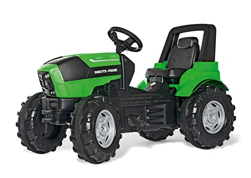 Rolly Toys rollyFarmtrac Deutz-Fahr Agrotron 7250 TTV Tretfahrzeug (für Kinder ab drei Jahre, Flüsterlaufreifen, verstellbarer Sitz) 700035