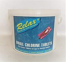Cascade Pools Pastillas de cloro grandes (200 g), 5 kg de productos químicos para piscina