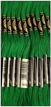 DMC Bulk Buy Thread 6 Strand Embroidery Cotton 8 7 Yards Very Dark Emerald Green 117 909 12 product image