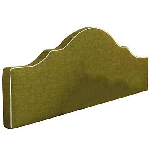 QIANCHENG-Cushion Kopfteil Rückenlehnen Bett Kissen Soft Case Faltenbeständig waschbar Großes Schlafzimmer Baumwolle und Leinen, 5 Farben, 5 Größen (Color : Green, Size : 100x50x8cm)