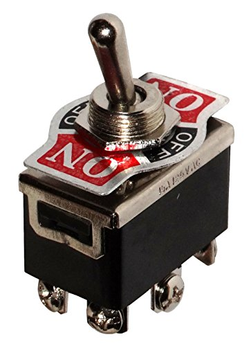 Aerzetix - Switch Kippschalter DP3T ON-OFF-ON 10A/250V 3 Positionen