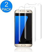 (2 Pack) Galaxy S7 Edge Tempered Glass Screen Protector,Anti-Scratch,Anti-Bubble,9H Hardness,HD Clear Screen Protector Compatible with Samsung Galaxy S7 Edge.
